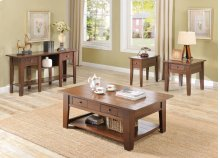 Ezra Cherry Chairside End Table