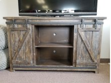 "Lagos 60"" Barn Door TV Stand- Barnwood"