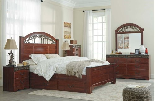 Fairbrooks Estate - Reddish Brown 4 Piece Bed Set (Queen)