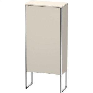 Semi-tall Cabinet Floorstanding, Taupe Matt (decor)