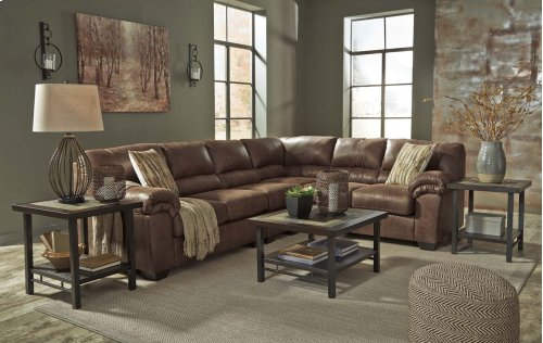 LAF Loveseat Sectional w/Armless Chair