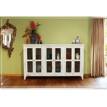 White Console w/6 Doors