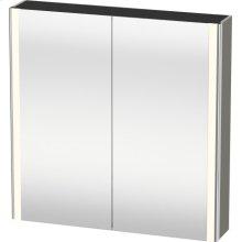 Mirror Cabinet, Stone Gray Satin Matt Lacquer