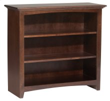 "CAF 36""H x 36""W McKenzie Alder Bookcase in Cafe Finish"