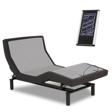 P-132 Foundation Style Adjustable Bed Base with LPConnect and (8) USB Ports, Charcoal Black Finish, Full XL
