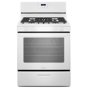 5.1 cu. ft. Freestanding Gas Range with Under-Oven Broiler - WHITE