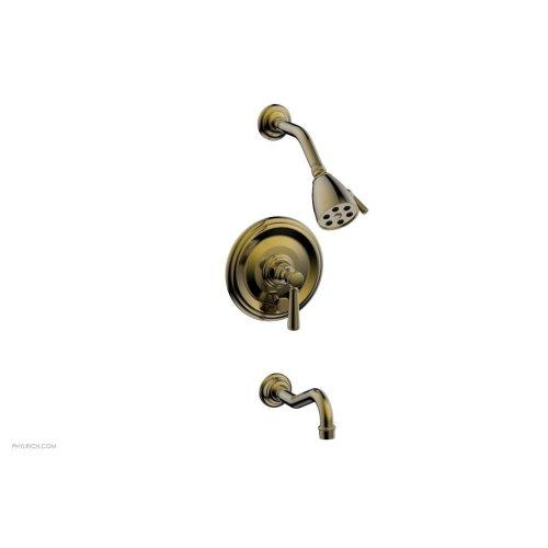 HENRI Pressure Balance Tub and Shower Set - Lever Handle 161-27 - Antique Brass