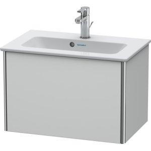 Vanity Unit Wall-mounted Compact, White Satin Matt Lacquer