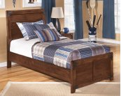 Delburne - Medium Brown 2 Piece Bed Set (Twin)