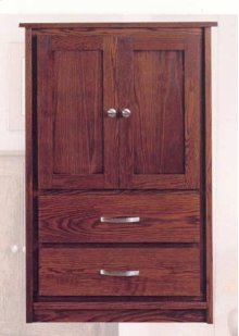 Mission 2 Door & 2 Drawer Armoire
