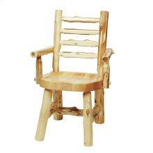 Cedar Ladder-back Log Arm Chair