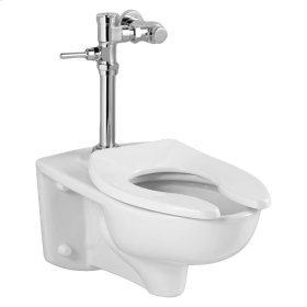 Afwall 1.6 gpf EverClean Toilet with Exposed Flush Valve System - White