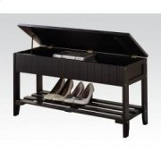 Black Bench W/storage Product Image