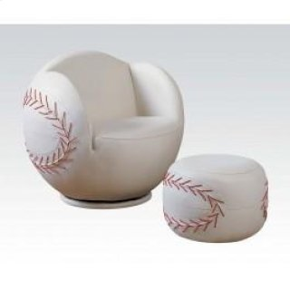 2pc Pk Baseball Chair & Ottoman