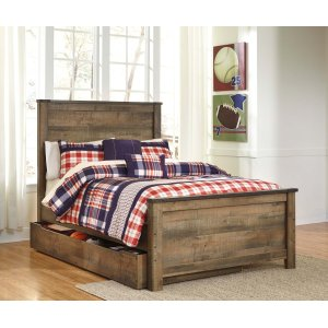 Ashley Furniture Trinell - Brown 5 Piece Bed Set (Full)