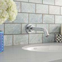 Serin Wall-Mount Proximity Faucet, Battery Powered - Polished Chrome