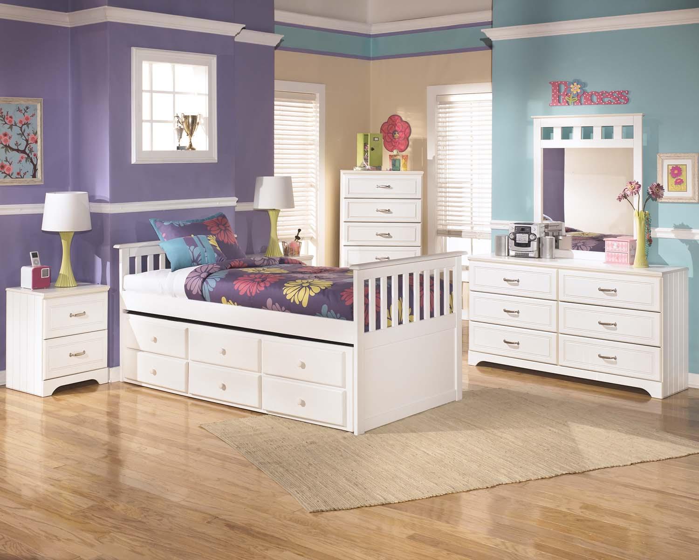 Lulu   White 8 Piece Bedroom Set Hidden