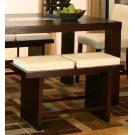 "Kemper 24"" 2/cush Ivory Bench Product Image"