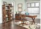 Burkesville - Medium Brown 3 Piece Home Office Set Product Image