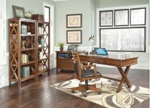 Burkesville - Medium Brown 3 Piece Home Office Set