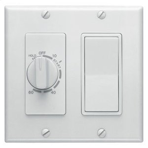 Broan60 Minute Time Control with one rocker switch, White