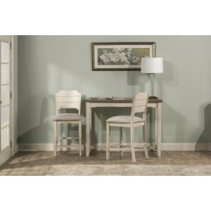 Hillsdale FurnitureClarion 3-piece Counter Height Side Dining Set With Open Back Stools - Distressed Gray Top With Sea