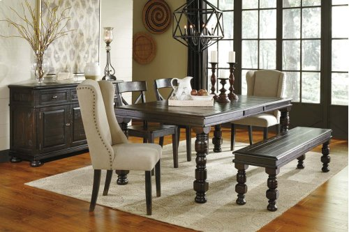 Gerlane - Dark Brown 6 Piece Dining Room Set