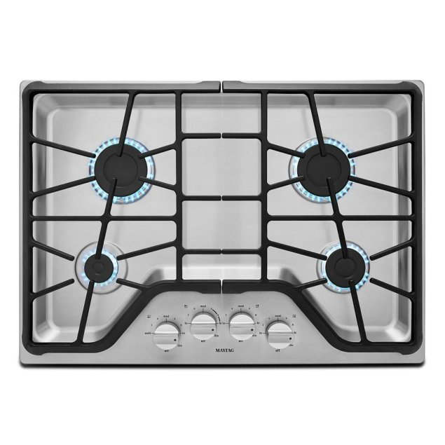 Maytag 30-inch Wide Gas Cooktop with Power Burner