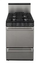 24 in. Freestanding Sealed Burner Gas Range in Stainless Steel Product Image