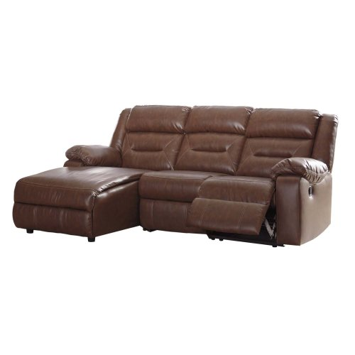 LAF Chaise 6 Pc Reclining Sectional w/Console