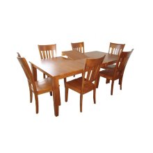 Solid Wood Ext. Table w/ b'fly leaf