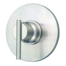 "Brushed Nickel Parma® Single Handle 3/4"" Thermostatic Valve Trim Kit"