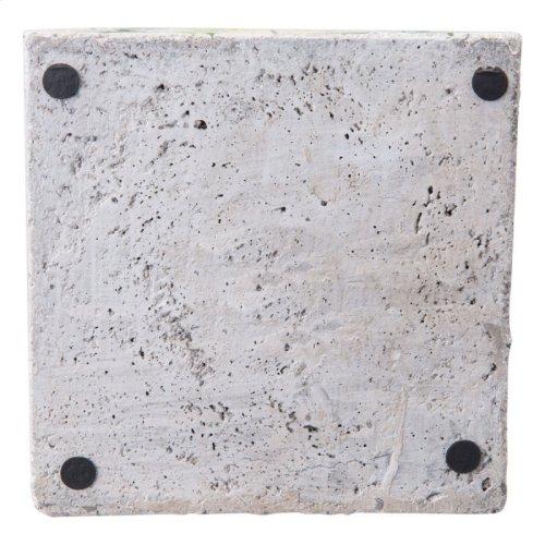Cement Tribal Planter Green