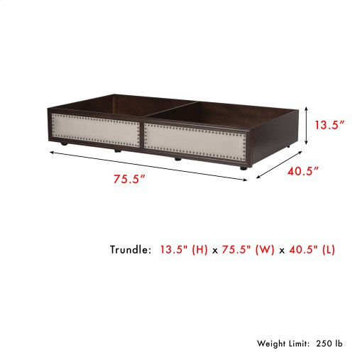 Grandover Wood Roll Out Trundle Drawer for Daybed, Espresso Finish, Twin