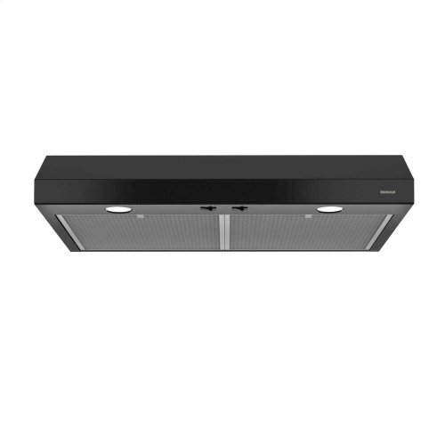 Glacier 42-Inch 250 CFM Black Range Hood with light