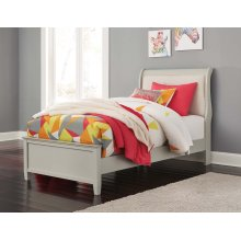 TWIN UPHOLSTERED SLEIGH BED