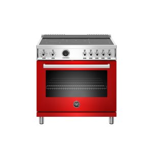 Bertazzoni36 Inch Induction Range, 5 Heating Zones, Electric Self-Clean Oven Rosso