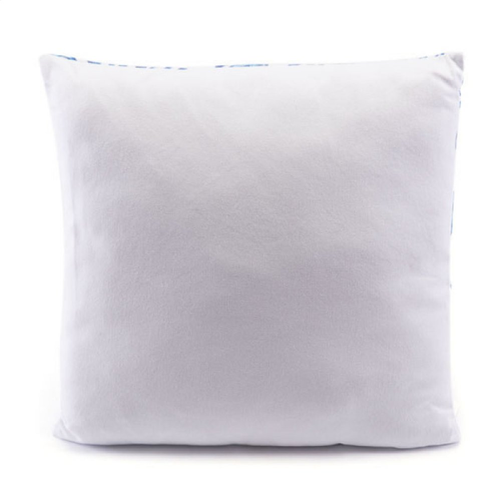 Blue Coral Pillow Blue & White