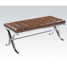 Brown Pu/chrome Bench