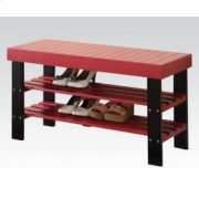 Red Bench W/shoe Rack Product Image
