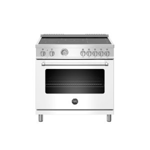 BERTAZZONI36 inch Induction Range, 5 Heating Zones, Electric Oven Bianco Matt