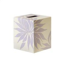 Kleenex Box Lavendar and Cream FLORAL.