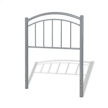 Rylan Fashion Kids Metal Headboard Panel with Gently Arced Top Rail and Vertical Spindles, Shadow Gray Finish, Twin