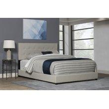 Duggan Bed Queen - Light Linen Gray Fabric