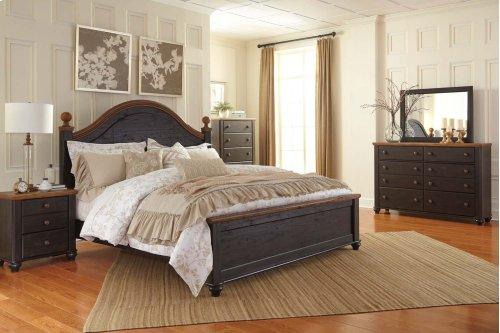King Bed w/ Storage Footboard