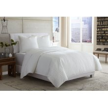 3 pc King Cverlet/Duvet White