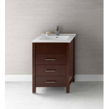 "Kali 23"" Bathroom Vanity Base Cabinet in Dark Cherry"