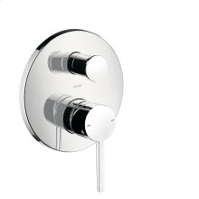 Chrome Single lever bath mixer for concealed installation with lever handle
