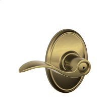 Accent Lever with Wakefield trim Bed & Bath Lock - Antique Brass
