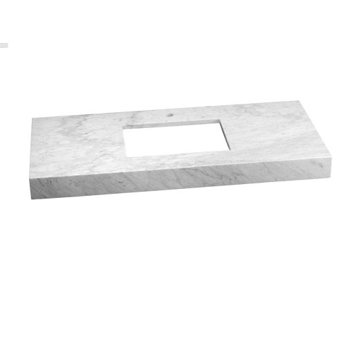 "WideAppeal™ 48"" x 22"" Marble Vanity Top in Carrara White - 4"" Thick"